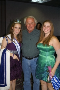 Robyn and her sister Tiana with Mr. Bob Swartzman (former director)