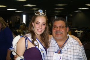 Robyn with Ernie Munoz, father of 2005 Ambassador Sahreena Munoz