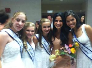 Robyn, Mariah L, Zolee and Mariah M with former Cinderella girl and Miss Arizona contestant Brittany Mazur (2002 Az Cinderella Miss and 2004 Int'l Cinderella Teen)